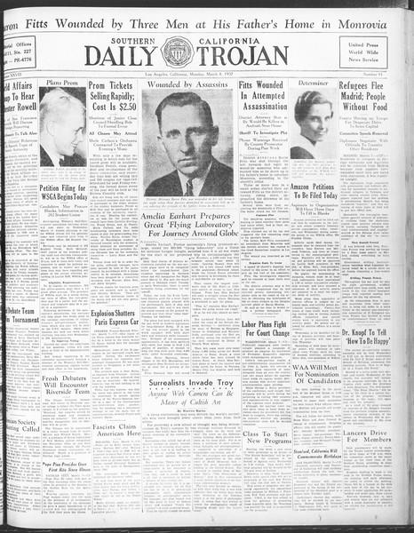 Daily Trojan, Vol. 28, No. 93, March 08, 1937