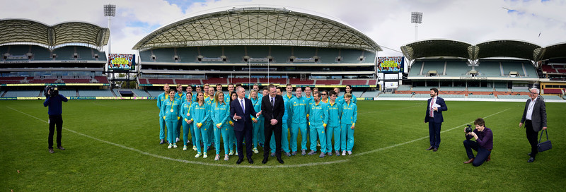 Jay and Martin with visiting Olympians to Adelaide South Australia