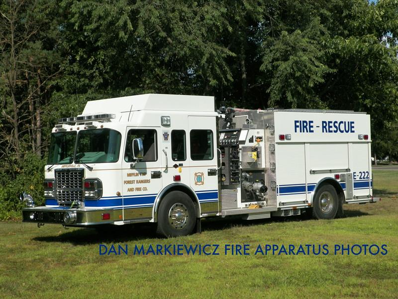 MIFFLIN TWP. FOREST RANGERS & FIRE CO. ENGINE 222 2009 SPARTAN/SMEAL PUMPER