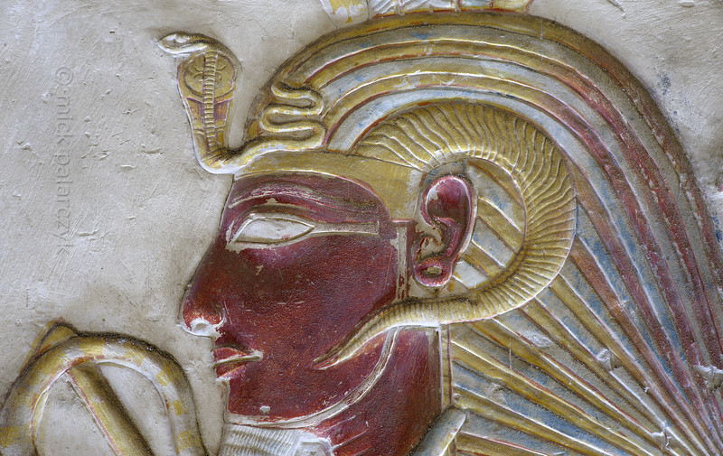 """[Egypt 29937] 'Seti with """"nemes"""" crown at Abydos'."""