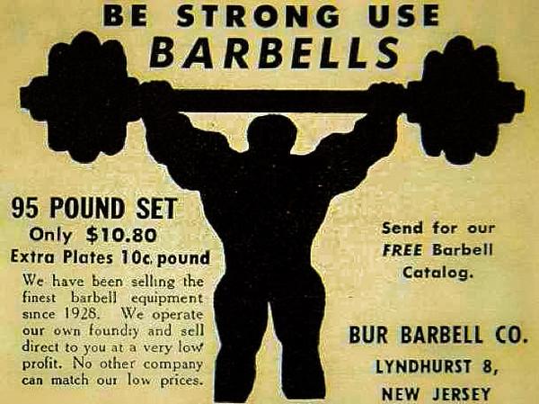 BUR Barbell Advertisement