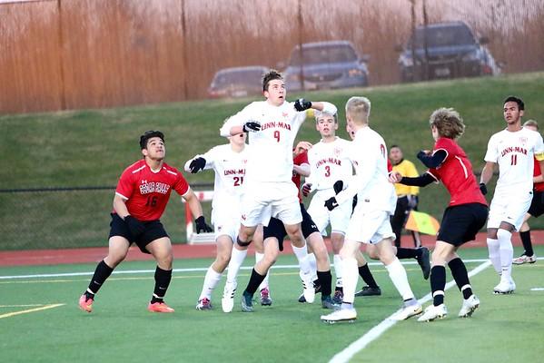 Linn-Mar vs. Cedar Falls Boys' Soccer 4/11/16