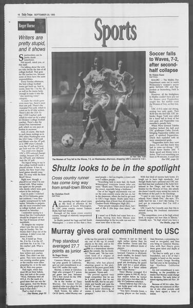 Daily Trojan, Vol. 121, No. 17, September 23, 1993