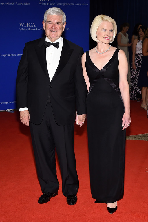 . Newt Gingrich (L) and Callista Gingrich attend the 102nd White House Correspondents\' Association Dinner on April 30, 2016 in Washington, DC.  (Photo by Larry Busacca/Getty Images)