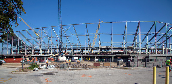 Topping Out Party for the New University of Houston Football Stadium