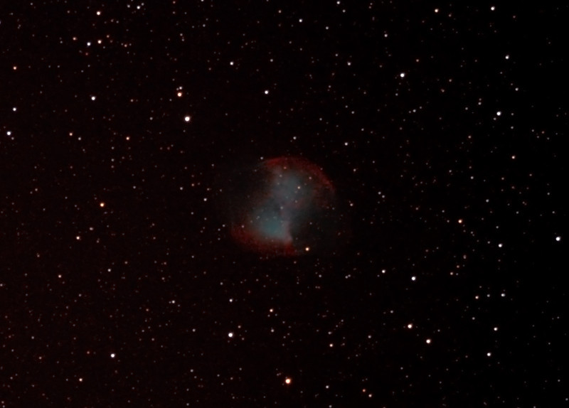 Messier M27 - NGC6853 - Dumbbell Nebula - 13/7/2012 (Processed cropped stack)