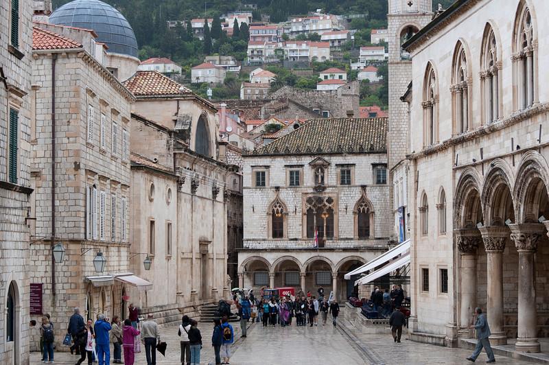 The main street in Dubrovnik, Croatia
