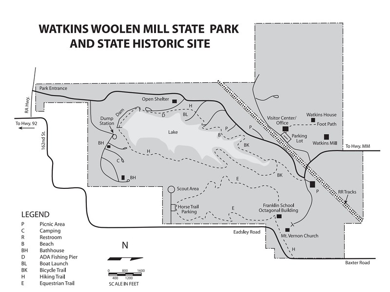 Watkins Woolen Mill State Park & Historic Site