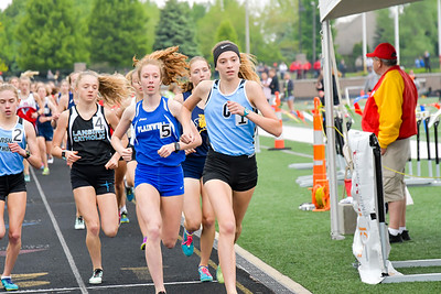 Girls' 3200 Meters - 2019 MHSAA LP D2 T&F