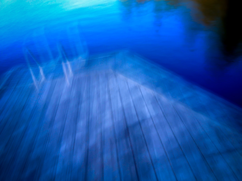 Dock in motion, Dreamwood Bay, Liberty Lake, Washington
