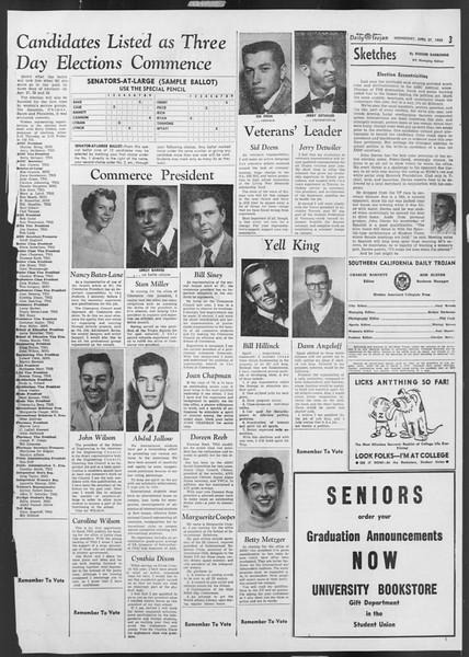 Daily Trojan, Vol. 46, No. 123, April 27, 1955