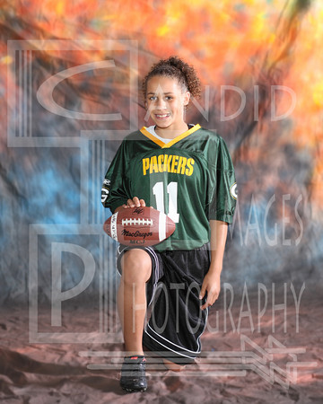 Flag Football Team and Indvidual Packers