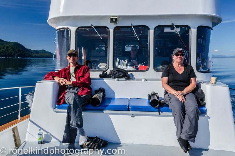 Watching and ready to photograph the whales.
