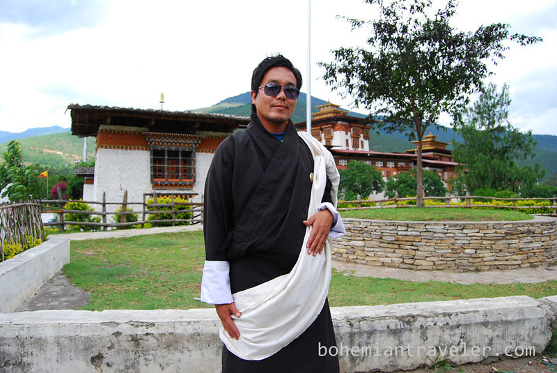 Tim in Gho at Punakha Dzong Fortress Bhutan.jpg