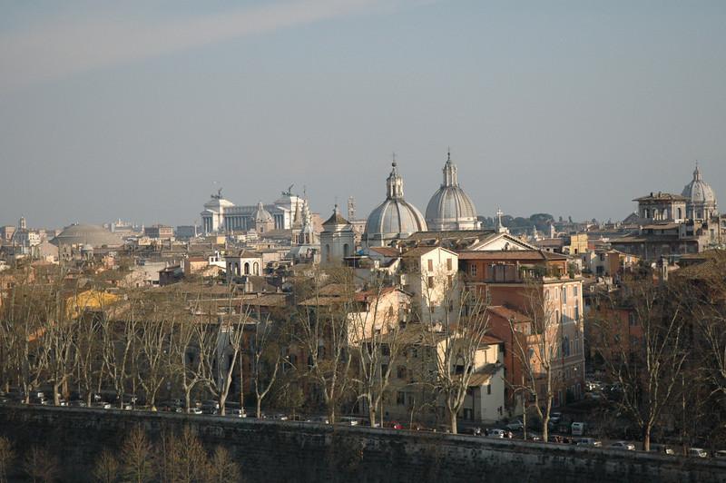 Rome skyline from Castel Sant'Angelo.