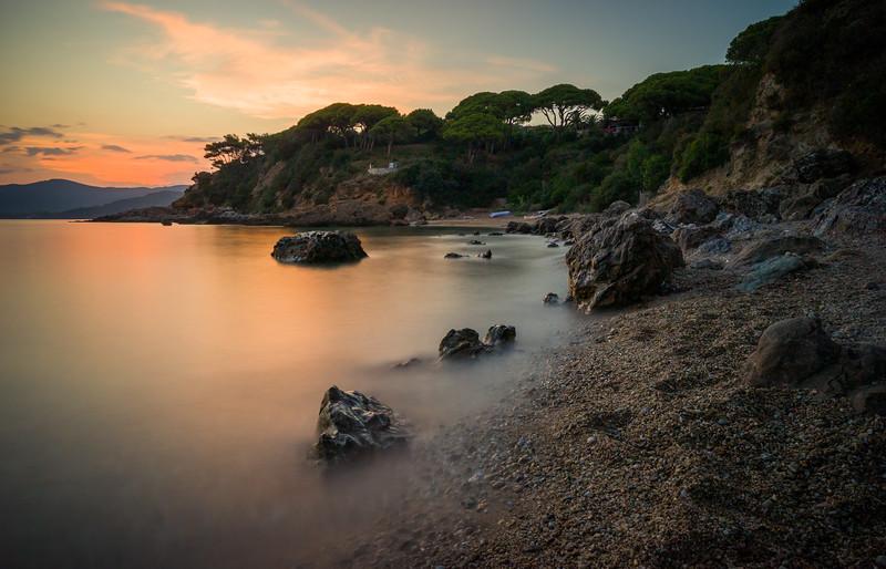 Elba Beach at Sunset