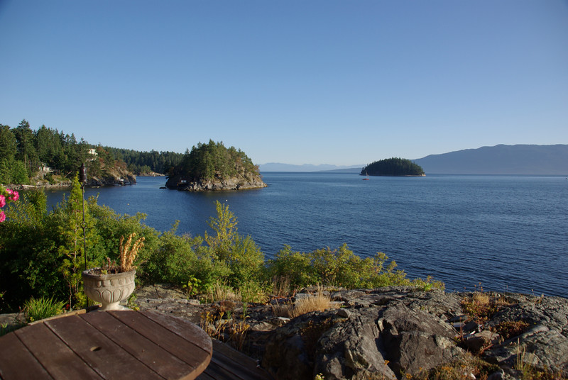 View from the sun deck at the front of the house.