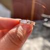 1.28ctw Asscher Cut Diamond 5-Stone Band, 18kt Rose Gold 8