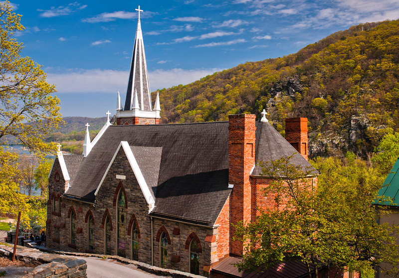 View of Saint Peter's Church, Harpers Ferry, West Virginia