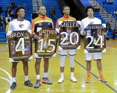 Boys Basketball Senior Night 2/3/17