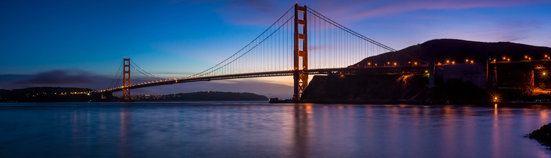 Sunset at Golden Gate Pano