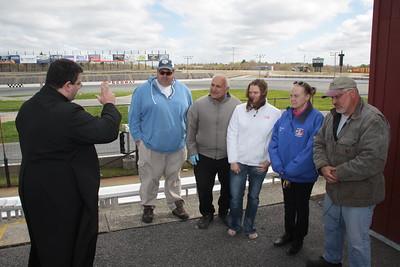 Racecar Blessing at Seekonk Speedway 2013