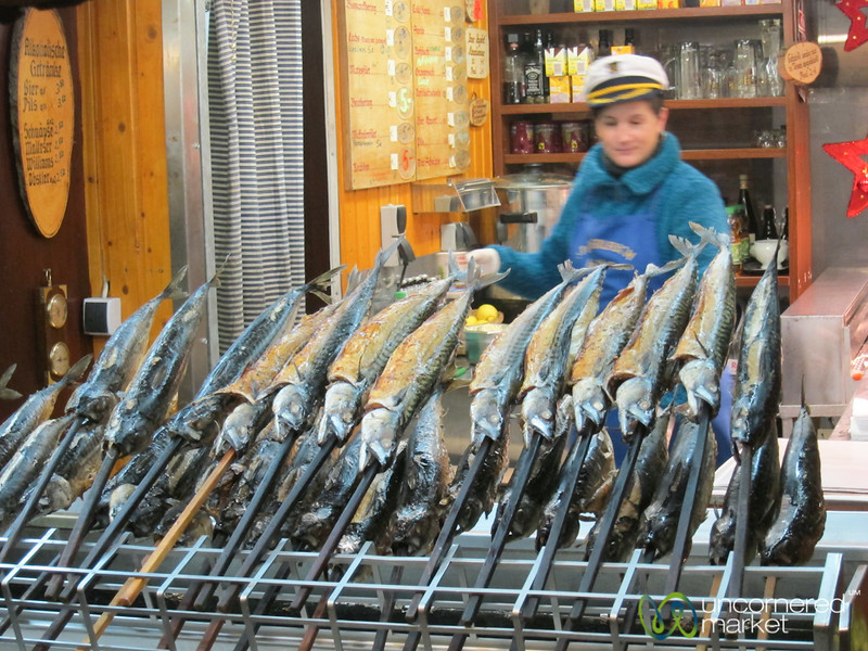 Fish on a Stick - Stuttgart Christmas Market, Germany