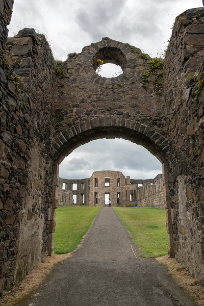 Ruins of a medieval mansion, Downhill House, Downhill Demesne, Downhill, County Londonderry, Northern Ireland, United Kingdom