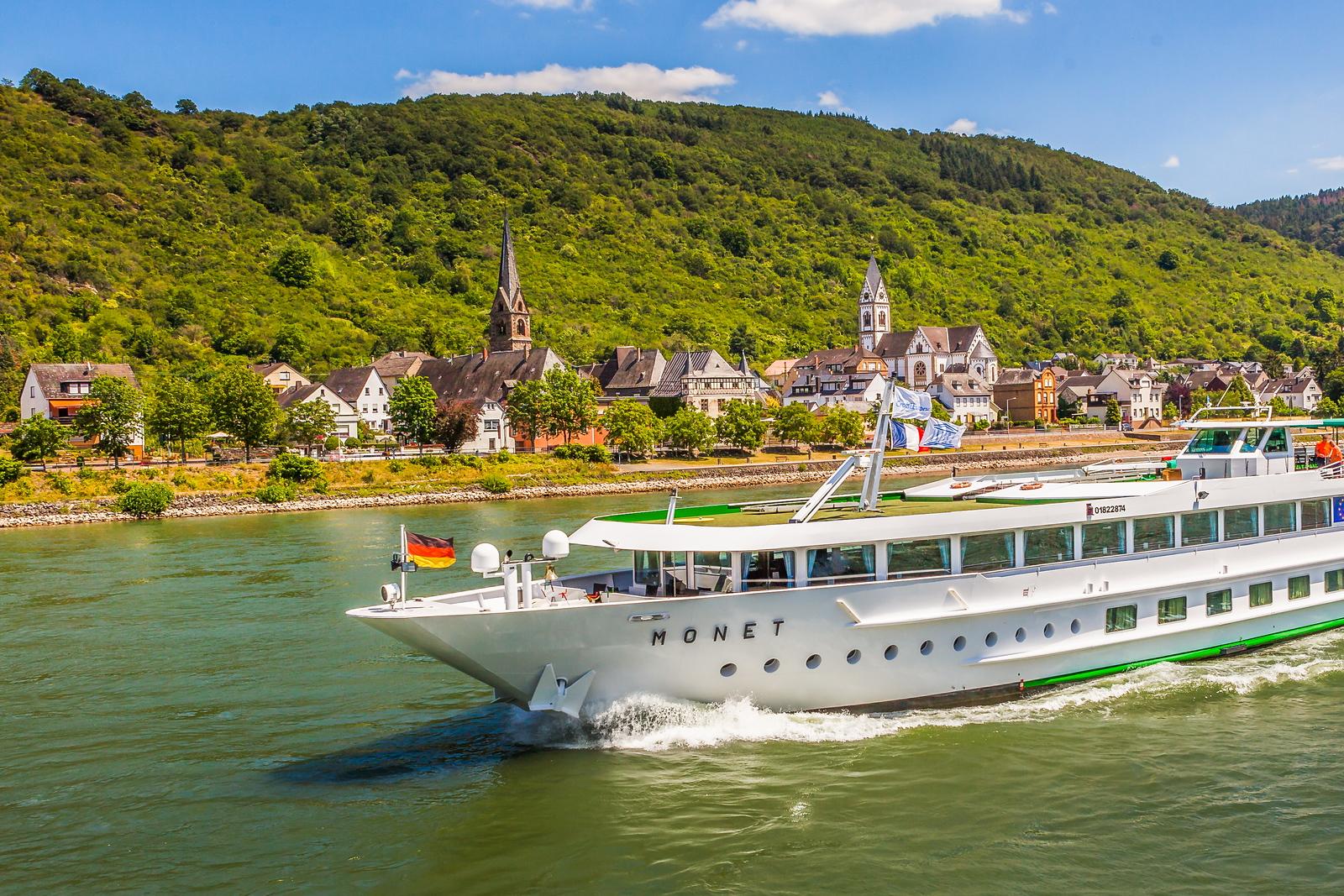 畅游莱茵河,游船商船另一道景