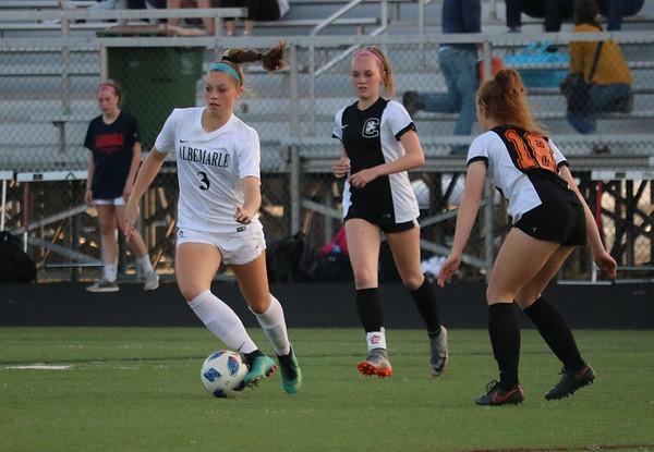 Albemarle versus Charlottesville girls soccer