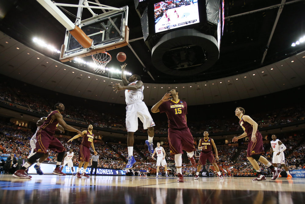 . Casey Prather #24 of the Florida Gators shoots against the Minnesota Golden Gophers in the first half during the third round of the 2013 NCAA Men\'s Basketball Tournament at The Frank Erwin Center on March 24, 2013 in Austin, Texas.  (Photo by Ronald Martinez/Getty Images)