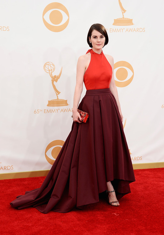 . Actress Michelle Dockery arrives at the 65th Annual Primetime Emmy Awards held at Nokia Theatre L.A. Live on September 22, 2013 in Los Angeles, California.  (Photo by Frazer Harrison/Getty Images)