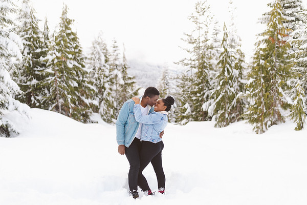Ola & Whitney - Snow Inspired Engagement Session | Mount Washington  - Comox Strathcona, BC
