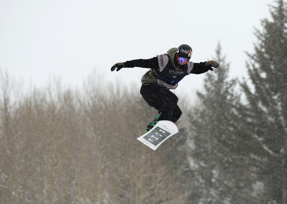 . Stale Sandbech of Norway is in the men\'s slope style final of the Burton U.S. Open. Vail, Colorado. March 7. 2014. (Photo by Hyoung Chang/The Denver Post)