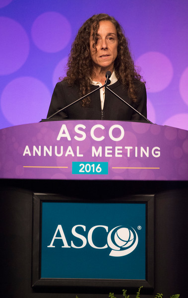 Julie R. Park, MD, presenting LBA3, A phase 3 randomized clinical trial (RCT) of tandem myeloablative autologous stem cell transplant (ASCT) using peripheral blood stem cell (PBSC) as consolidation therapy for high-risk neuroblastoma (HR-NB): A Children? s Oncology Group (COG) study duringPlenary Session including Science of Oncology Award and Lecture