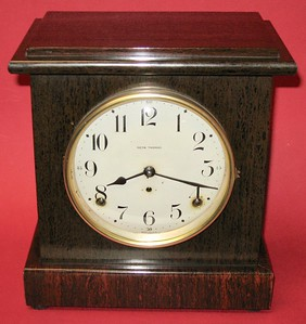 Seth Thomas Small Mahogany Adamantine Mantel Clock