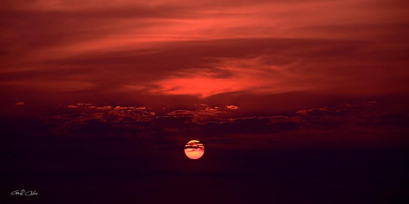 Crimson Sunrise, Art photo download and screensaver.