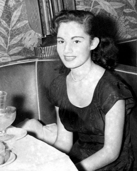 Marian Drucker at age 14 in 1947.