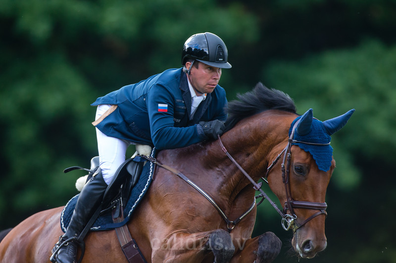 Alexandr BELEKHOV (RUS) with the horse QUINCY 127, World Cup competition, Grand Prix Riga, CSI2*-W, CSIYH1* - Riga 2016, Latvia