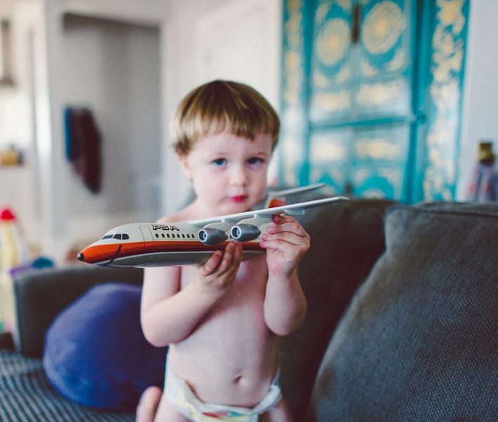 little john with grandpas plane