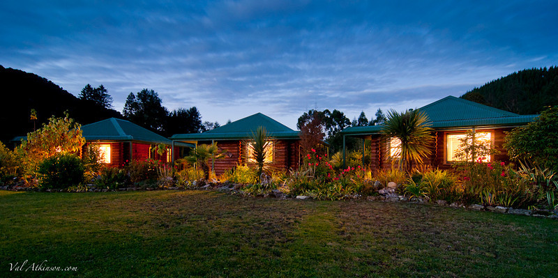 Riverhaven cabins in Murchison, south Island. Scott and Leya Murray owners.