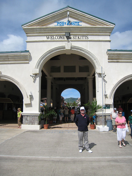David at the Port of St. Kitts