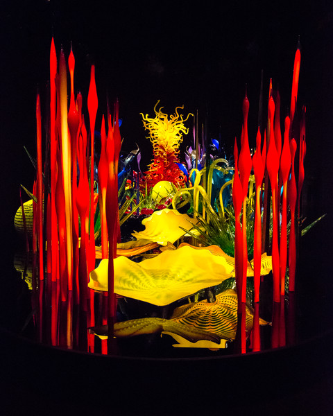 Chihuly's Mille Fiori Exhibit