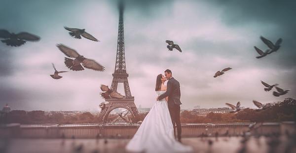 自主婚紗/巴黎鐵塔的幸福