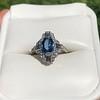 1.41ctw Art Deco Style Aqua and Diamond Dinner Ring 29