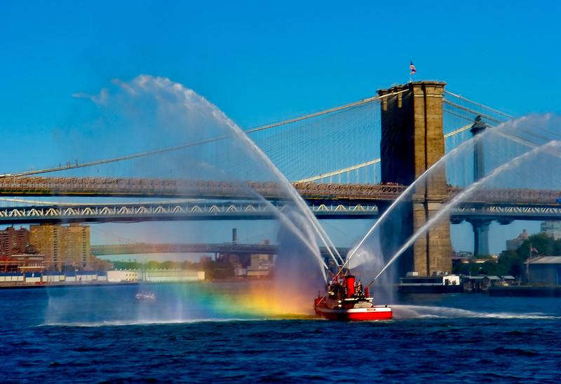 NY FIREBOAT RAINBOW