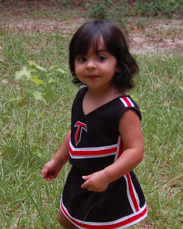 Violet The Cheer Leader 9/8/2011