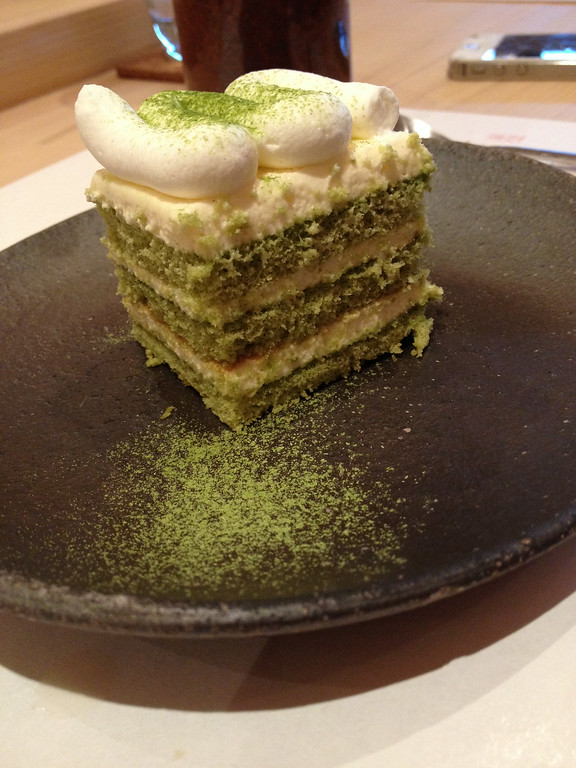 . The green tea tiramisu is a unique and delicious take on the classic at Kabuto restaurant in the Chinatown section of Las Vegas. Kyle Wagner, The Denver Post