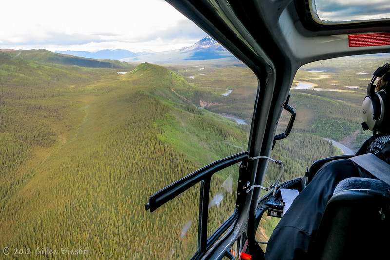 View from Helicopter on the way to Glacier in Denali National Park,Alaska, June 17 2012