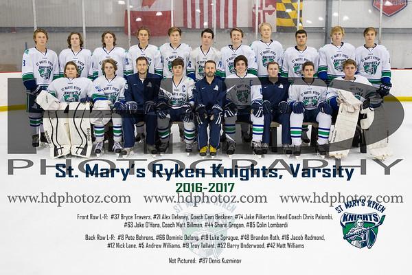 Ryken Varsity II & Varsity Prep Ice Hockey Team 12-14-16